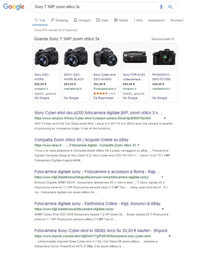keyword-analisi-serp-sony-fotocamera-digitale
