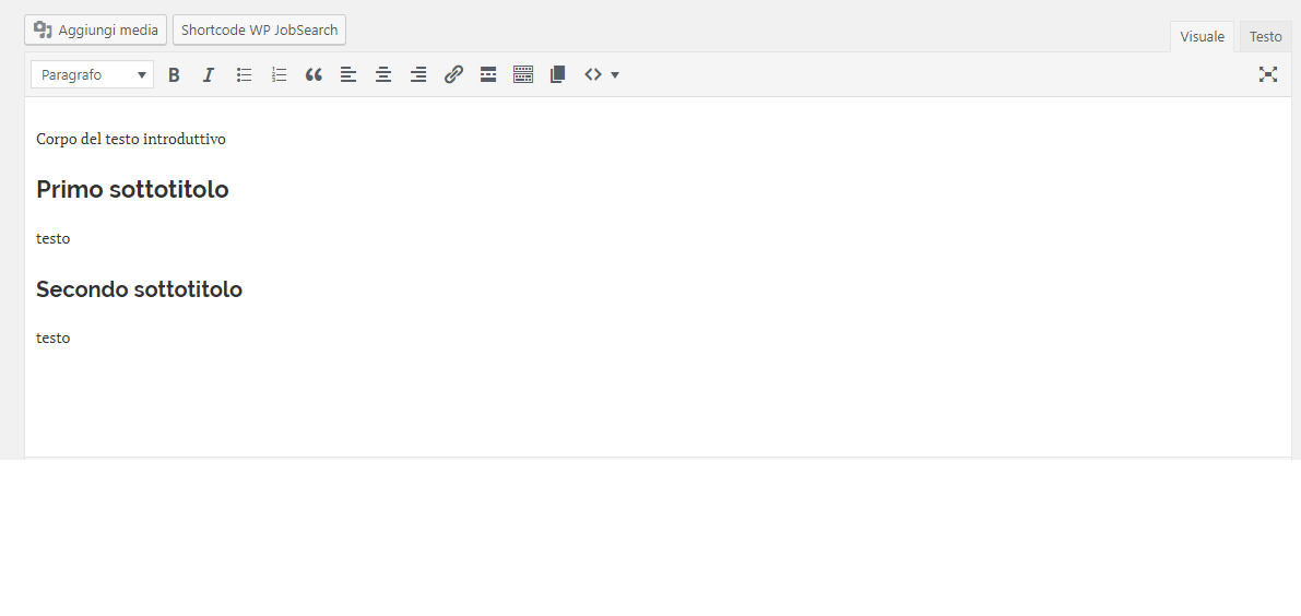 guida a wordpress cosa inserire come sottotitolo