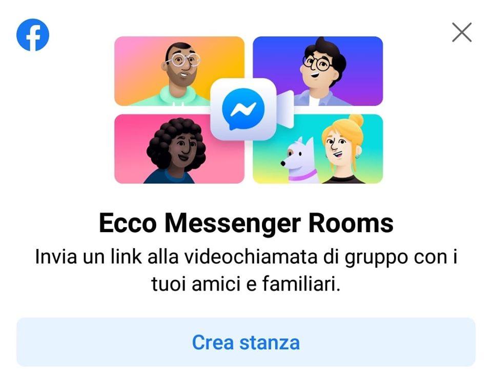 Messenger Rooms-funzionamento